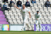 Kyle Abbott of Hampshire has an usuccessful appeal for a wicket during the Specsavers County Champ Div 1 match between Hampshire County Cricket Club and Yorkshire County Cricket Club at the Ageas Bowl, Southampton, United Kingdom on 11 April 2019.