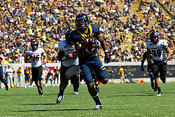 BERKELEY, CA - SEPTEMBER 08: Wide receiver Keenan Allen #21 of the California Golden Bears rushes up field for a touchdown against the Southern Utah Thunderbirds during the fourth quarter at Memorial Stadium on September 8, 2012 in Berkeley, California. The California Golden Bears defeated the Southern Utah Thunderbirds 50-31. (Photo by Jason O. Watson/Getty Images) *** Local Caption *** Keenan Allen
