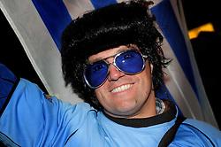 16.06.2010, Versfeld-Stadion, Pretoria, RSA, FIFA WM 2010, RSA, FIFA WM 2010, Südafrika vs Uruguay im Bild Uruguay Fanfeature, EXPA Pictures © 2010, PhotoCredit: EXPA/ InsideFoto/ G. Perottino, ATTENTION! FOR AUSTRIA AND SLOVENIA ONLY!!! / SPORTIDA PHOTO AGENCY