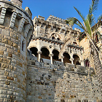 Cruz Fort Stone Wall and Colonnade in Estoril, Portugal<br />