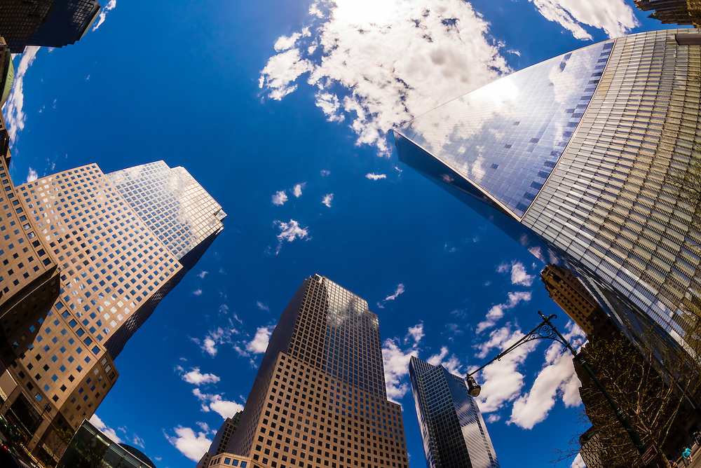 One World Trade Center and World Financial Center, New York, New York USA.