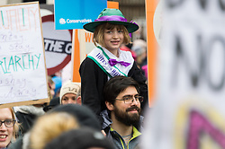 © Licensed to London News Pictures. 04/03/2018. London, UK. Supporters take part in the #March4Women rally calling for gender equality. Photo credit: Ray Tang/LNP