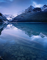 Predawn reflection on Lake Louise, Banff National Park Alberta Canada