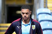 Burnley forward Andre Gray (7)  during the Sky Bet Championship match between Burnley and Queens Park Rangers at Turf Moor, Burnley, England on 2 May 2016. Photo by Simon Davies.