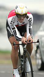 (Geelong, Australia---30 September 2010) Fabian CANCELLARA of Switzerland racing to victory in the Elite Men's Time Trial race at the 2010 UCI Road World Championships [2010 Copyright Sean Burges / Mundo Sport Images -- www.mundosportimages.com]