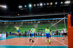 Matej Kok of Slovenia during volleyball match between National teams of Slovenia and Georgia in 2nd Round of 2018 FIVB Volleyball Men's World Championship qualification, on May 24, 2017 in Arena Stozice, Ljubljana, Slovenia. Photo by Vid Ponikvar / Sportida