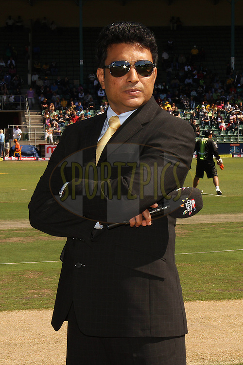 Commentator Sanjay Manjrekar during match 2 of the Airtel CLT20 between The Warriors and The Wayamba Elevens held at St Georges Park in Port Elizabeth on the 11 September 2010..Photo by: Shaun Roy/SPORTZPICS/CLT20