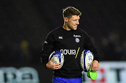 Rhys Priestland of Bath Rugby looks on during the pre-match warm-up - Mandatory byline: Patrick Khachfe/JMP - 07966 386802 - 23/11/2019 - RUGBY UNION - The Twickenham Stoop - London, England - Harlequins v Bath Rugby - Heineken Champions Cup