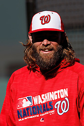 SAN FRANCISCO, CA - JULY 28: Jayson Werth #28 of the Washington Nationals looks on during batting practice before the game against the San Francisco Giants at AT&T Park on July 28, 2016 in San Francisco, California. The Washington Nationals defeated the San Francisco Giants 4-2. (Photo by Jason O. Watson/Getty Images) *** Local Caption *** Jayson Werth