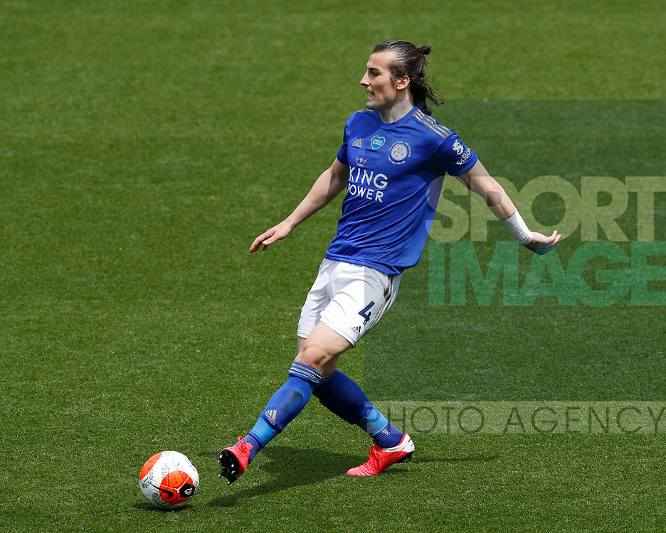 Caglar Soyuncu of Leicester City during the Premier League match at Vicarage Road, Watford. Picture date: 20th June 2020. Picture credit should read: Darren Staples/Sportimage