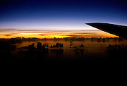 View from aircraft South Pacific