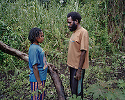 Husband and wife who recently discovered they are HIV-positive.  They must travel 70km roundtrip to reach the nearest health center for care and treatment.