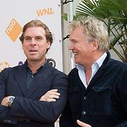 NLD/Hilversum/20180828 -  Persviewing nieuw tv-seizoen NPO, Rutger Castricum en Tom Egbers