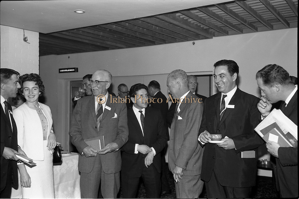 05/06/1964<br /> 06/05/1964<br /> 05 June 1964<br /> Clothing Institute Conference at Jury's Hotel, Dublin. Picture shows the afternoon tea break.