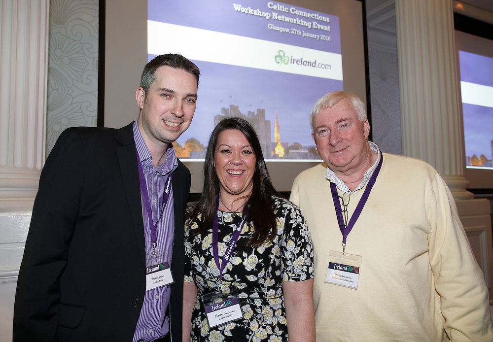 Tourism Ireland Celtic Connections 2016 event in the Corinthian, Glasgow. Picture Robert Perry 27th Jan 2016<br /> <br /> Must credit photo to Robert Perry<br /> <br /> Image is free to use in connection with the promotion of the above company or organisation. 'Permissions for ALL other uses need to be sought and payment make be required.<br /> <br /> <br /> Note to Editors:  This image is free to be used editorially in the promotion of the above company or organisation.  Without prejudice ALL other licences without prior consent will be deemed a breach of copyright under the 1988. Copyright Design and Patents Act  and will be subject to payment or legal action, where appropriate.<br /> www.robertperry.co.uk<br /> NB -This image is not to be distributed without the prior consent of the copyright holder.<br /> in using this image you agree to abide by terms and conditions as stated in this caption.<br /> All monies payable to Robert Perry<br /> <br /> (PLEASE DO NOT REMOVE THIS CAPTION)<br /> This image is intended for Editorial use (e.g. news). Any commercial or promotional use requires additional clearance. <br /> Copyright 2015 All rights protected.<br /> first use only<br /> contact details<br /> Robert Perry     <br /> 07702 631 477<br /> robertperryphotos@gmail.com<br />        <br /> Robert Perry reserves the right to pursue unauthorised use of this image . If you violate my intellectual property you may be liable for  damages, loss of income, and profits you derive from the use of this image.