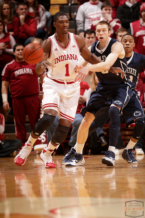 12 February 2014: Indiana Forward Noah Vonleh (1) as the Indiana Hoosiers played Penn State in a college basketball game in Bloomington, Ind.