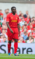 DUBLIN, REPUBLIC OF IRELAND - Saturday, August 10, 2013: Liverpool's Kolo Toure looks dejected as Glasgow Celtic score the opening goal during a preseason friendly match at the Aviva Stadium. (Pic by David Rawcliffe/Propaganda)
