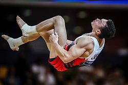 November 2, 2018 - Doha, Qatar - Ahmet Onder of  Turkey   during  Floor for Men at the Aspire Dome in Doha, Qatar, Artistic FIG Gymnastics World Championships on 2 of November 2018. (Credit Image: © Ulrik Pedersen/NurPhoto via ZUMA Press)