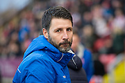 Lincoln City Manager Danny Cowley before kickoff during the EFL Sky Bet League 2 match between Lincoln City and Coventry City at Sincil Bank, Lincoln, United Kingdom on 18 November 2017. Photo by Craig Zadoroznyj.