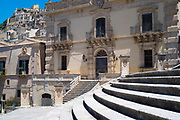 Ancient city of Modica Alta famous for Baroque architecture, South East Sicily, Italy