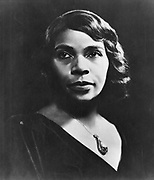 Marian Anderson  (1899-1993) American contralto. First black singer to appear at the Metropolitan Opera, New York (1955).