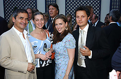 Left to right, ELIZABETH COMPTON-BATT, HARRY HANDLESMAN, SHEBAH RONAY and JOHNNY YEO at a party hosted by Andrew neil and The Business Newspaper held at The Ritz, Piccadilly, London on 12th July 2005.<br /><br />NON EXCLUSIVE - WORLD RIGHTS