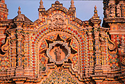 MEXICO, COLONIAL, PUEBLA San Francisco Acatepec tiled facade