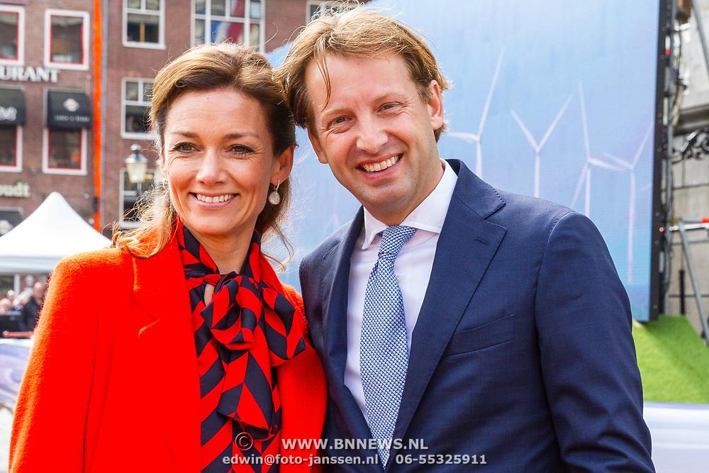 NLD/Groningen/20180427 - Koningsdag Groningen 2018, Prins Floris en Prinses Aimee Söhngen
