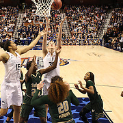 Breanna Stewart, UConn, rebounds during the UConn Huskies Vs USF Bulls Basketball Final game at the American Athletic Conference Women's College Basketball Championships 2015 at Mohegan Sun Arena, Uncasville, Connecticut, USA. 9th March 2015. Photo Tim Clayton