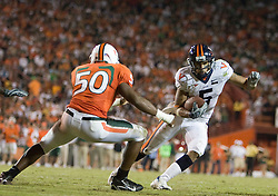 Virginia running back Mikell Simpson (5)..The #19 Virginia Cavaliers defeated the Miami Hurricanes 48-0 at the Orange Bowl in Miami, Florida on November 10, 2007.  The game was the final game played in the Orange Bowl.