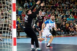 Blaz Janc of Slovenia during handball match between National Teams of Slovenia and Latvia in 2020 European Men's Handball Championship Qualifications, on October 24, 2018 in Sports hall Lukna, Maribor, Slovenia. Photo by Urban Urbanc / Sportida