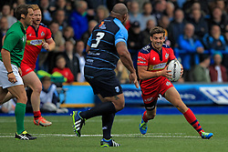 Will Cliff of Bristol Rugby (R) in action with Taufa'ao Filise of Cardiff Blues - Mandatory by-line: Ian Smith/JMP - 20/08/2016 - RUGBY - BT Sport Cardiff Arms Park - Cardiff, Wales - Cardiff Blues v Bristol Rugby - Pre-season friendly
