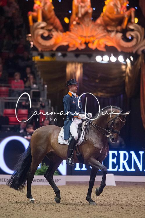 Minderhoud Hans Peter (NED) - Glock's Romanov<br /> Reem Acra FEI World Cup Dressage <br /> London International Horse Show Olympia 2013<br /> &copy; Hippo Foto - Jon Stroud