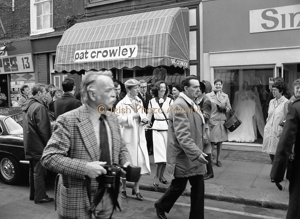 Queen Margrethe II Denmark Shops in Dublin 27/04/1978