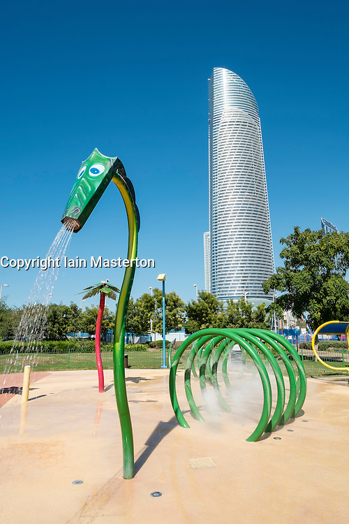 water park on Corniche in Abu Dhabi United Arab emirates