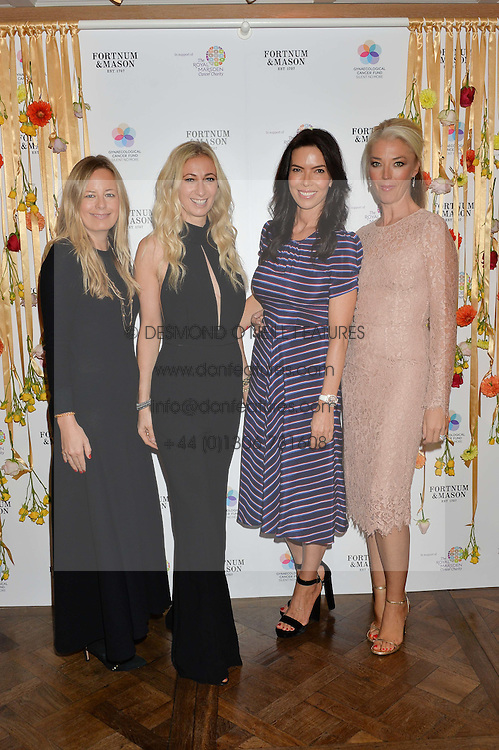 Left to right, ASTRID HARBORD, JENNY HALPERN-PRINCE, JOSEPHINE DANIEL and TAMARA BECKWITH at the 3rd annual Gynaecological Cancer Fund Ladies Lunch at Fortnum & Mason, 181 Piccadilly, London on 29th September 2016.