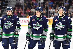 The Seattle Thunderbirds in Game 3 of the 2017 MasterCard Memorial Cup against the Windsor Spitfires on Sunday May 21, 2017 at the WFCU Centre in Windsor, ON. Photo by Aaron Bell/CHL Images