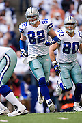 IRVING, TX - JANUARY 13:   Jason Witten #82 of the Dallas Cowboys goes in motion against the New York Giants during the NFC Divisional playoff at Texas Stadium on January 13, 2008 in Dallas, Texas.  The Giants defeated the Cowboys 21-17.  (Photo by Wesley Hitt/Getty Images) *** Local Caption *** Jason Witten