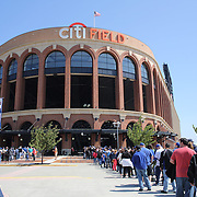 Fans queue outside Citi Field before the New York Mets V Pittsburgh Pirates Baseball game at Citi Field, Queens, New York. USA. 12th May 2013. Photo Tim Clayton
