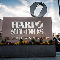 Harpo Studios sign for the Oprah Winfrey Show in Chicago in 2008. Harpo Studios was home to the Oprah Winfrey show from 1986-2011 and also hosts other television shows.