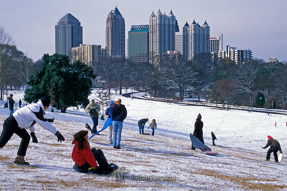 Piedmont Park is a 189-acre urban park in Atlanta, Georgia, located about 1 mile northeast of Downtown, between the Midtown and Virginia Highland neighborhoods.  The park has also served as an athletic center for the city. Throughout the 20th century, many improvements have been made in the park, including the addition of covered picnic areas, tennis facilities, the Lake Clara Meer dock and visitors center, and two playgrounds.