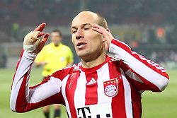 23.02.2011, Giuseppe Meazza, Mailand, ITA, UEFA CL Achtelfinale, Inter Mailand (ITA) vs Bayern Muenchen (GER), im Bild Arjen Robben (Bayern #10)  , EXPA Pictures © 2011, PhotoCredit: EXPA/ nph/  Straubmeier       ****** out of GER / SWE / CRO  / BEL ******