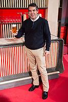 Luis Aragones son during the presentation of the new spot of  Mahou 5 Estrellas at Capitol Cinemas in Madrid. March 29, 2016. (ALTERPHOTOS/Borja B.Hojas)