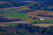 View of Berks Co. Farmland from Hawk Mountain Santuary, Berks Co. PA