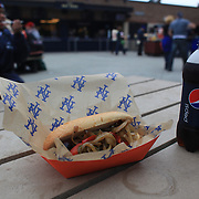 A fast food hot dog and pepsi cola during the New York Mets V Arizona Diamondbacks Baseball game at Citi Field, Queens, New York. 5th May 2012. Photo Tim Clayton