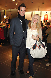 HANNAH SANDLING and OLIVER FELSTEAD at a party to celebrate the opening of the new H&M store at 234 Regent Street, London on 13th February 2008.<br />