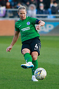Brighton Womens midfielder Danielle Buet (4)  during the FA Women's Super League match between Manchester City Women and Brighton and Hove Albion Women at the Sport City Academy Stadium, Manchester, United Kingdom on 27 January 2019.