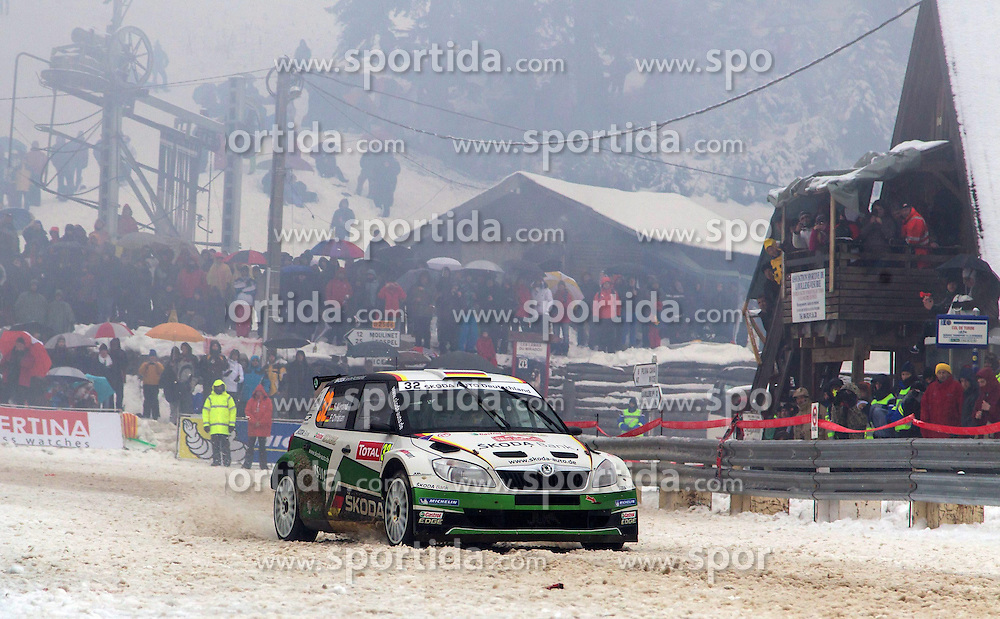 19.01.2013, Valence, FRA, FIA WRC, Rallye Monte Carlo, 4. Etappe, Col de Turini, im Bild WIEGAND Sepp/ CHRISTIAN Frank ( SKODA AUTO DEUTSCHLAND (DEU)/ SKODA FABIA S2000 ) // during 4th stage Col de Turini, of the Rallye Monte Carlo of the FIA World Rally Championship, Valence, France on 2013/01/19. EXPA Pictures © 2013, PhotoCredit: EXPA/ Eibner/ Alexander Neis..***** ATTENTION - OUT OF GER *****