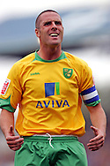 Cardiff - Saturday August 23rd, 2008:  Mark Fotheringham of Norwich City tries to rouse the Norwich fans during the Coca Cola Championship match at The Ninian Park, Cardiff. (Pic by Paul Hollands/Focus Images)