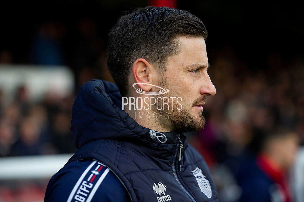Grimsby Town Interim Manager Anthony Limbrick during the EFL Sky Bet League 2 match between Grimsby Town FC and Swindon Town at Blundell Park, Grimsby, United Kingdom on 7 December 2019.